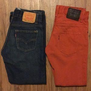 Lot 2️⃣ Boys Levi's Jeans 511 Skinny 505 Straight